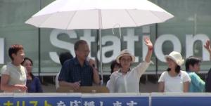 【動画】共産党の選挙妨害に対して聴衆が「帰れ」コール 桜井誠の街頭演説で
