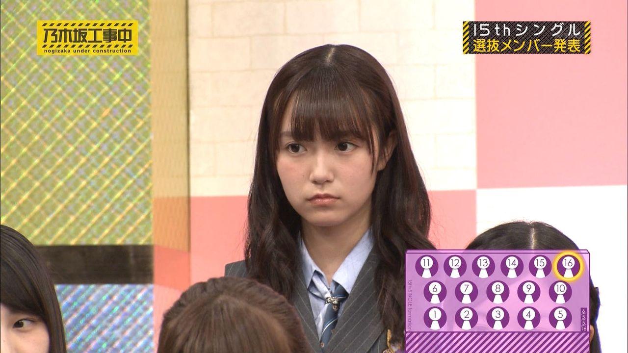 15枚目シングル選抜発表の瞬間です。中元日芽香さん、選抜復帰おめでとう。