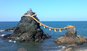 ポケモンGOをするために二見興玉神社の夫婦岩に行ってきた【ラプラス出現】